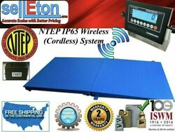 Ntep Wireless Cordless 48 X 72 4and039 X 6and039 Floor Scale 2 Ramp 10000 Lbs X 2 Lb