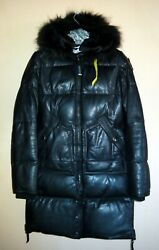 Parajumpers Long Bear Down Leather Jackets For Woman