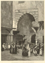 In The Khan El-khalili Souk Cairo Egyptian Traders From The Red Sea 1882