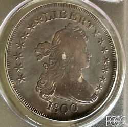 1800 Draped Bust Dollar Pcgs F15.      Older Green Label. Under Graded. Imo