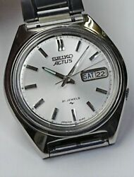 Seiko Actus 21 Jewels Cal. 7019a Automatic Vintage Watch 1976's Overhauled