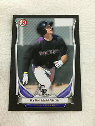 RYAN MCMAHON ROOKIE quot;BLACK BORDERquot; 2014 BOWMAN COLORADO RC BASEBALL CARD