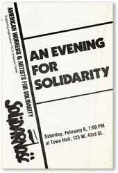 American Workers amp; Artists for Solidarity EVENING FOR SOLIDARITY ca 1980 81 $33.00
