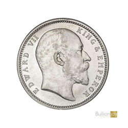 1906 King Edward Vii India One Rupee Silver Coin - Collectors Coin