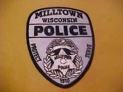 Milltown Wisconsin Police Patch Shoulder Size Unused