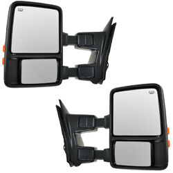 Superduty Truck Power Heated Signal Telescoping Mirror Left Right Side Set Pair