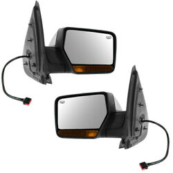09-10 Expedition Mirror Power Folding Heated W/memory Turn Signal Lamp Pair Set