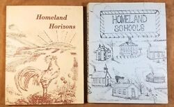 Vintage Republic County Kansas Belleville Schools And Things To See Pair Of Books