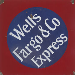 Wells Fargo And Company Express Advertising Metal Sign