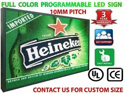 Neon Light Signs Full Color Digital 10mm Programmable 25 X 38 Business Board