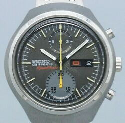 Seiko Speedtimer 6138-0020 Black Dial Automatic Winding Vintage Watch 1971and039s