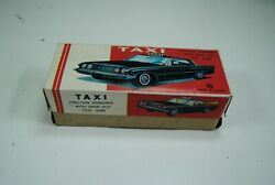 Tin Toys Korea 'taxi 'friction Powered With Snap Out Sign ,boxed Rare