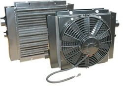 Mobile Oil Cooler With Fan 12 Vdc 55 Gpm Max 1.0 Npt Ports