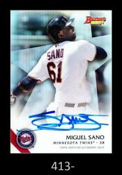 1-2015 Bowmanand039s Best Refractor Auto Miguel Sano Twins