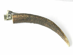 Vintage Goat Horn Cigar Cutter Cts Large Size Authentic Smoking Collectible