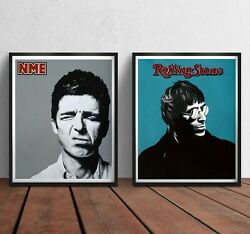 Oasis Print - Liam Noel Gallagher Brothers Poster Artwork Pop Wall Art Gift Band