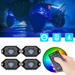 Mictuning 4 Pods Rgb Rock Lights Remote Control Underglow Offroad Lighting Kit