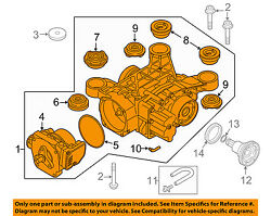 AUDI OEM 15-18 A3 Axle Differential-Rear-Differential 0CQ525010N