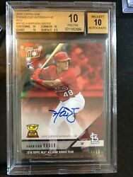 2018 Topps Now Rookie Cup Autographs Red Harrison Bader Bgs 10 Pop 1 Rc St Louis