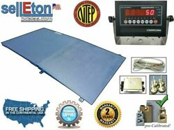 Op-916 Ntep Floor Scale With Ramp 4and039 X 4and039 5000 Lbs X 1 Lb