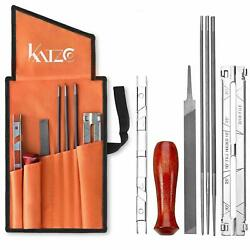 Katzco Chainsaw Sharpener File Kit - Contains 5/32, 3/16, And 7/32 Inch Files, W