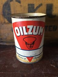 Oilzum Can 3 Lubricant Lube Oul Gas Station Service Center Can