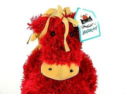 """New Jellycat Bunglie Horse Plush Red Doll Toy Pony Stuffed Animal Small 11"""""""