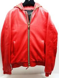 Authentic Giuseppe Zanotti Mens Pelle Leather Red Jacket Raccagni Size S