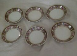 Vintage China. Johnson Brothers. 8 Dipping, Condiment, Sauce Bowls, Butter Pats