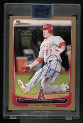 Mike Trout 2018 Topps Archives Buyback Auto 1/1 2012 Bowman 34