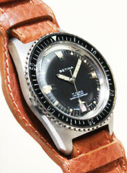 Betina Diver Black Dial Cal.as1802 Manual Winding Vintage Watch 1960and039s