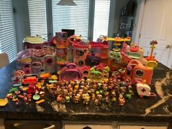Large Lot Littlest Pet Shop 8 Big Houses Rare Retired