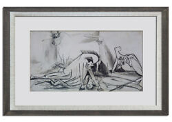 Pablo Picasso Lithograph Guernica Horse And Bull Ltd Ed W/custom Frame