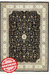 Luxury Indian Hand Knotted Carpet 8and039x10and039 Area Rug Oriental Perssian Wool Carpets