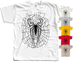 Web Spiderman Black COMICS T Shirt YELLOW KHAKI NATURAL ZINK RED All sizes S 5XL