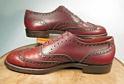 French Shriner Urner Extra Qualityand039and039 Brown Wingtips 10a
