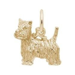 Yellow Gold West Highland Terrier Dog Charm