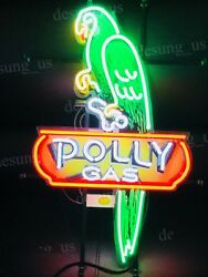 New Polly Gas Gasoline Motor Oil Light Neon Sign 19 With Hd Vivid Printing