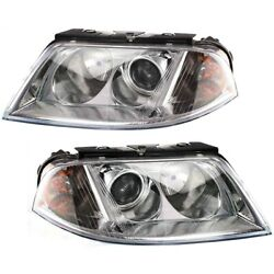 Headlight Lamp Left-and-right For Vw Vw2502118 Vw2503118 Lh And Rh Passat 01-05