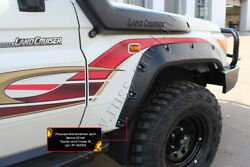 Flexible Fender Flares Extension Arch Abs Toyota Land Cruiser 76 2007-