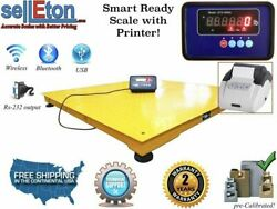 Stg-48x48 Industrial Pallet Size 48x48 4and039x4and039 2000lbx.5lb Floor Scale Printer