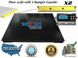 48 X 48 4and039x4and039 Floor Scale Pallet Size Guards 10000 Lb X 1 Lb With 2 Bumper
