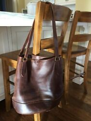 Madewell leather tote pre loved brown