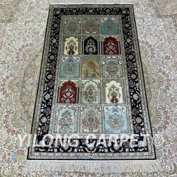 Yilong 2.5and039x4and039 Four Seasons Handwoven Silk Carpet Home Interior Area Rug H180b