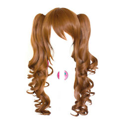23'' Curly Pig Tails + Base Auburn Brown Cosplay Wig NEW