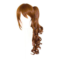 23'' Curly Pony Tail + Base Auburn Brown Cosplay Wig NEW