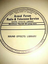 Extremely Rare 1967 Armed Forces Sound Effects Library 15 Record Box Set