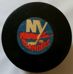 Ny Islanders Isles Nhl Official Game Puck Rare Viceroy Mfg. Vtg Made In Canada