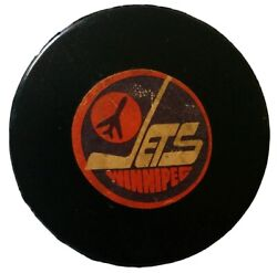 Winnipeg Jets Nhl Official Game Puck Rare Viceroy Mfg. Vtg Made In Canada