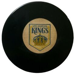Los Angeles Kings Nhl Official Game Puck Rare Viceroy Mfg. Vtg Made In Canada